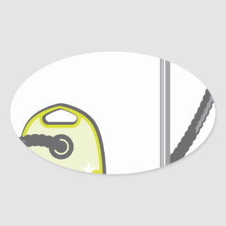 Vacuum Cleaner Oval Sticker