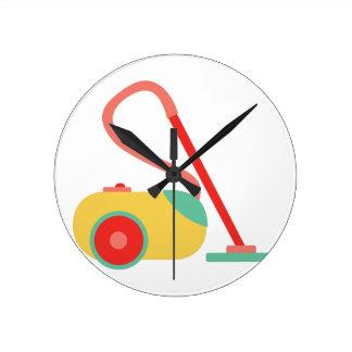Vacuum Cleaner Round Clock