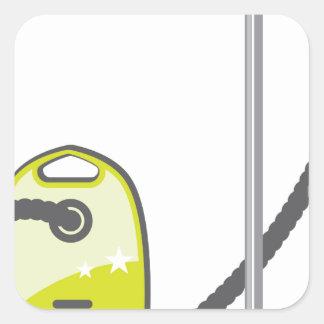 Vacuum Cleaner Square Sticker
