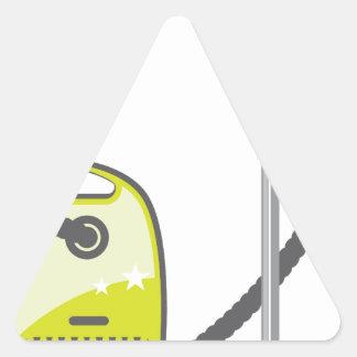 Vacuum Cleaner Triangle Sticker