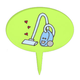 Vacuum Cleaner with Hearts Cake Topper