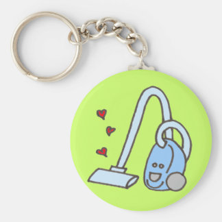 Vacuum Cleaner with Hearts Keychains