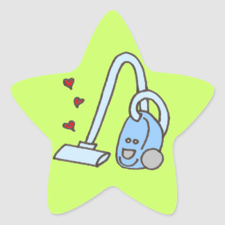 Vacuum Cleaner with Hearts Star Sticker