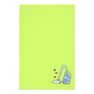 Vacuum Cleaner with Hearts Stationery