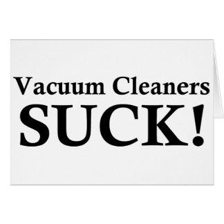 VACUUM CLEANERS SUCK CARD