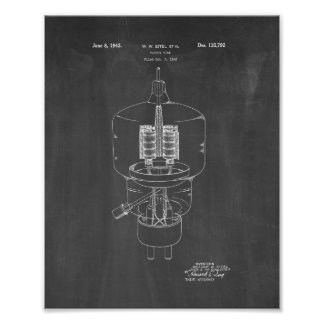 Vacuum Tube Patent - Chalkboard Poster
