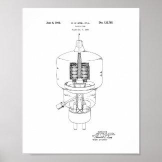 Vacuum Tube Patent Poster