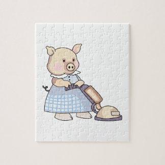 VACUUMING PIG JIGSAW PUZZLES