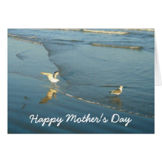Vadear la tarjeta del día de madres de las gaviota