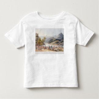 Vado del río Mondego, grabado por la C. Camisas