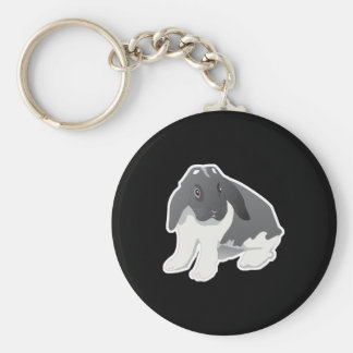 vadur bunny rabbit basic round button keychain