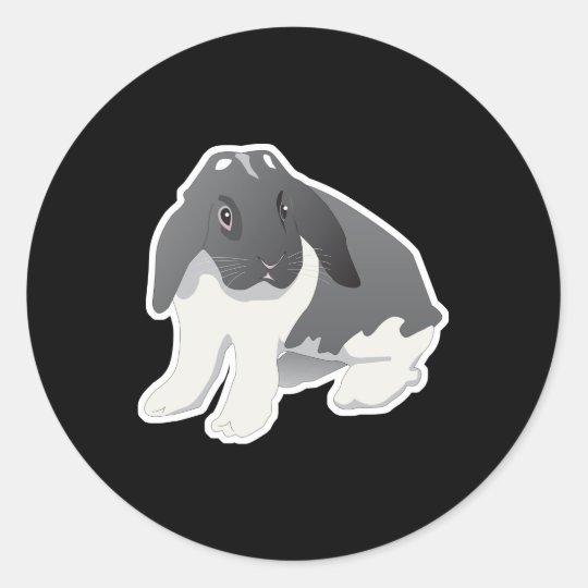 vadur bunny rabbit classic round sticker