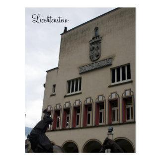 vaduz town hall postcard