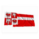 Vaduz Waving Flags Postcard