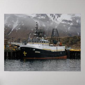 Vaerdal, Factory Trawler in Dutch Harbor, Ak Posters