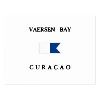 Vaersen Curacao Alpha Dive Flag Postcard