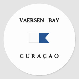 Vaersen Curacao Alpha Dive Flag Classic Round Sticker