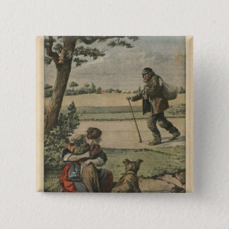Vagabond is a nuisance for countryside pinback button