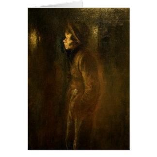Vagabond Walking at Night by Ladislav Mednansky Card