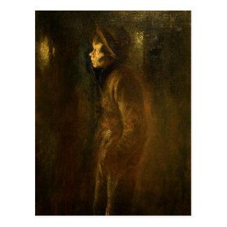 Vagabond Walking at Night by Ladislav Mednansky Postcard