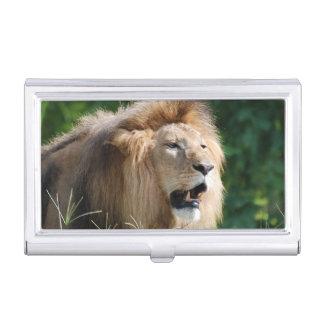Vagabundeo del león caja de tarjetas de presentación