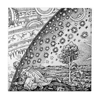 Vagabundo de Flammarions Azulejo Cuadrado Pequeño