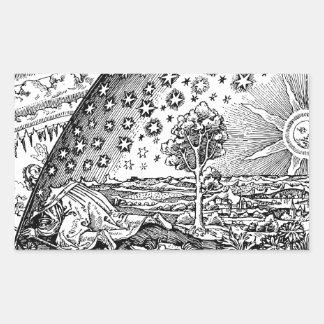 Vagabundo de Flammarions Pegatina Rectangular