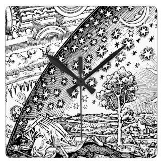 Vagabundo de Flammarions Reloj Cuadrado