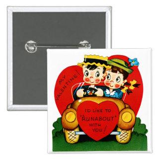 Vagabundo de la tarjeta del día de San Valentín Pins