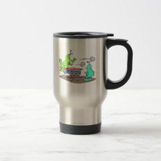 Vagabundo robado taza de café