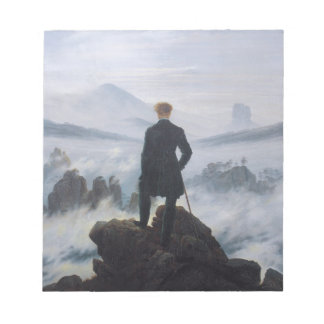 Vagabundo sobre el mar de la niebla bloc de notas