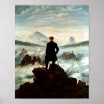 Vagabundo sobre el mar de la niebla - Friedrich Impresiones