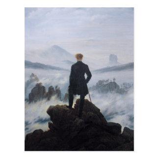 Vagabundo sobre el mar de la niebla postales