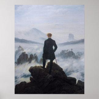 Vagabundo sobre el mar de la niebla poster