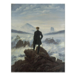 Vagabundo sobre el mar de la niebla - poster grand