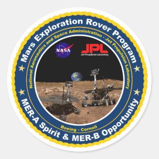 Vagabundos de la exploración de Marte: Alcohol y Pegatinas Redondas