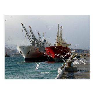 Vagabundos y gaviotas, puerto holandés, AK Tarjetas Postales