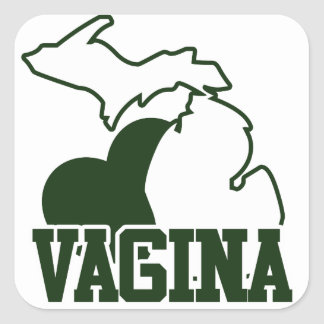 Vagina de Michigan Calcomanía Cuadradas Personalizada