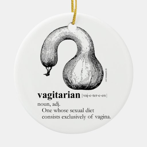 VAGITARIAN Double-Sided CERAMIC ROUND CHRISTMAS ORNAMENT