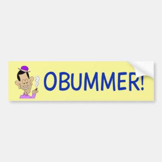 vago anti-obama de obama del obummer etiqueta de parachoque