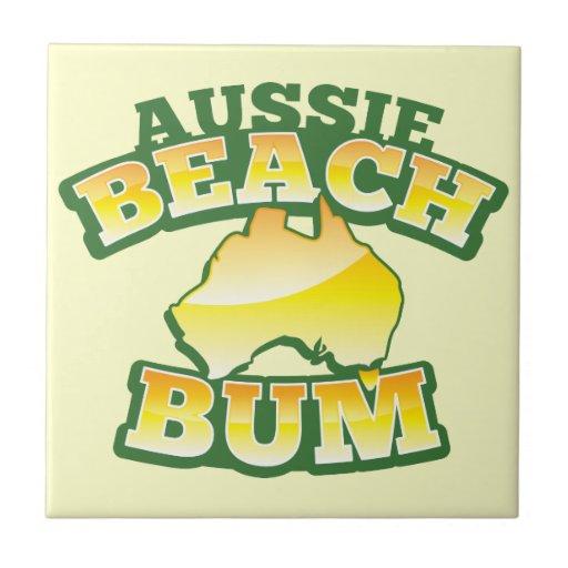 ¡Vago australiano de la playa! con el mapa austral Tejas Cerámicas