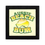 ¡Vago australiano de la playa! con el mapa austral Cajas De Joyas
