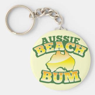 ¡Vago australiano de la playa! con el mapa austral Llavero Personalizado