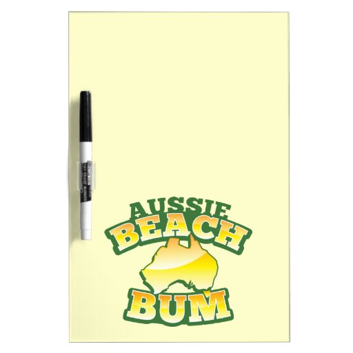 ¡Vago australiano de la playa! con el mapa austral Pizarra Blanca