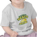 ¡Vago australiano de la playa! con el mapa austral Camisetas