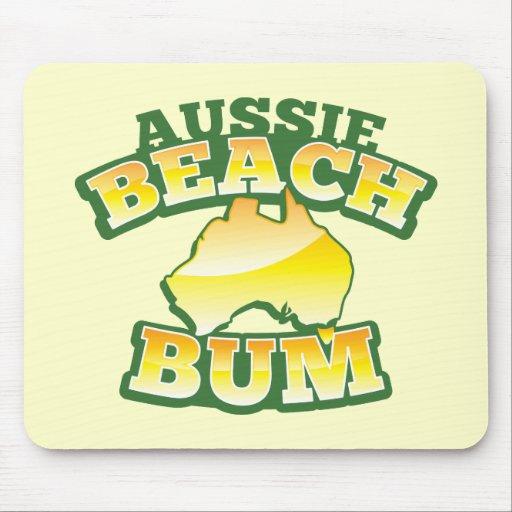 ¡Vago australiano de la playa! con el mapa austral Alfombrilla De Raton