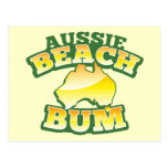 ¡Vago australiano de la playa! con el mapa austral Postales