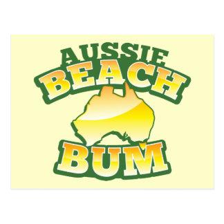 ¡Vago australiano de la playa! con el mapa Postal