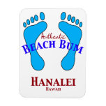 Vago auténtico Hanalei Hawaii de la playa Imán