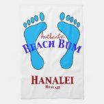 Vago auténtico Hanalei Hawaii de la playa Toallas